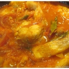 Tilapia Fish curry (in a spicy onion and tomato sauce)