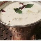 Winter melon / Ash gourd yoghurt curry (Kumbalanga Pachadi)