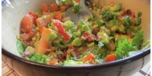 Roasted Red Pepper Guacomole (Red Pepper Avocado dip)