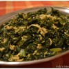 Kale with coconut (Cheera thoran)