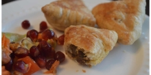 Meat Samosas (Kheema Pastry Puffs) for a special party