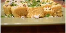 Steamed Chickpea Bread (Instant Microwave Khaman Dhokla)