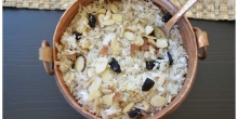 A quick gluten free snack: Flattened rice with coconut (Avil nanachathu)