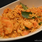 Shrimp sautéed with coconut (Prawns and coconut stir fry)