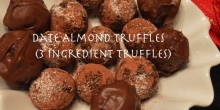 Date and Almond Truffles (Healthy 3 Ingredient Truffles)
