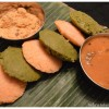 Spinach / Carrot Idlis