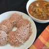 Home made Rice Noodles (Idiappam) with chicken curry