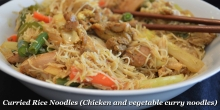 Curried Rice Noodles (Chicken and vegetable curry noodles)