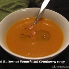 Roasted Butternut Squash Soup (with Cranberries)