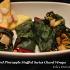 Chicken and Pineapple Stuffed Swiss Chard Wraps
