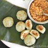 Sweet Potato dumplings with sweetened coconut filling (Sweet Potato Kozhukkatta)