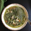 Paleo Chicken Noodle Soup with Spinach (Gluten Free, Paleo, AIP)