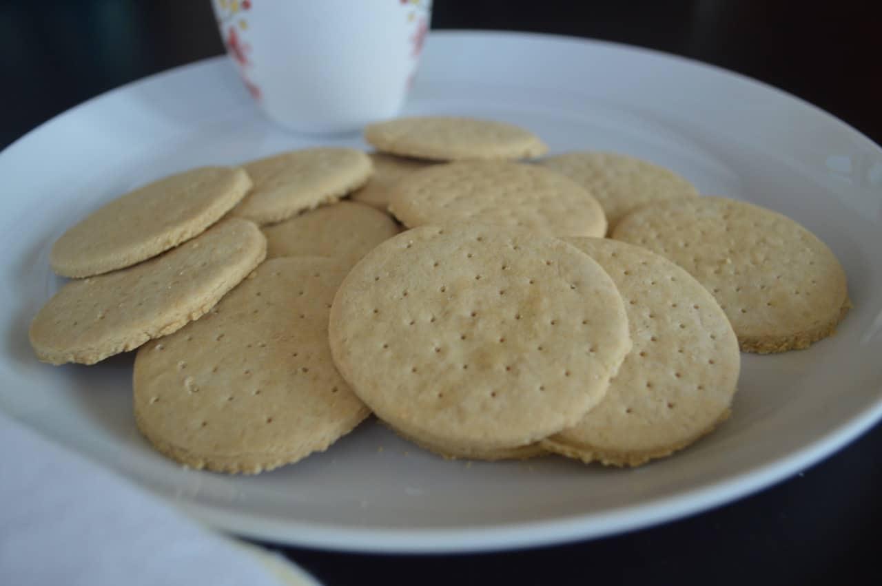 Gluten Free 'Marie Biscuits'   Tea Time Cookies (Paleo, AIP, Vegan) -